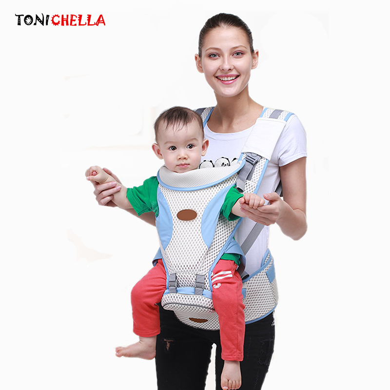 Breathable Baby Carrier Ergonomic Sling Adjustable Comfortable Infant Newborn Backpacks Hip Seat Kangaroo Warp Carriers BB3032 кенгуру для детей ergonomic baby carrier baby carriers 01