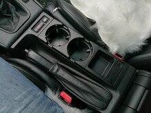 Đôi Lỗ Phía Trước Xe Hơi Điều Khiển Trung Tâm Giá Úp Cốc Chén/Thay Đổi Hộp Cho Xe BMW E46: Đen