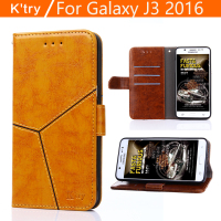 K Try For Fundas Samsung J3 2016 Flip Cover Case Crocodile PU Leather Holster For Samsung