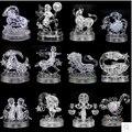 Puzzle 3D cristal rosa y transparente Jigsaw modelo doce 12 signos zodiacales regalo juguetes educativos
