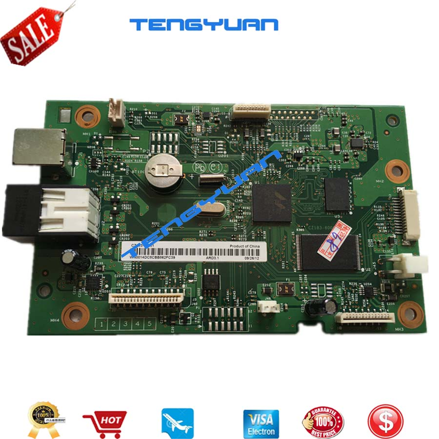 Original board Formatter Board for HP LaserJet Pro MFP M127 M128 M127FN M128FN CZ183-60001 print parts free shipping formatter board for hp laserjet pro mfp m127fn m128fn m127fw m128fw cz181 60001 cz183 60001 print part on sale