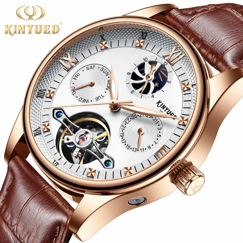 Mens Watches Top Brand Luxury Automatic Mechanical Watch Men Genuine Leather Business Waterproof Sport Watches Relogio Masculino|Mechanical Watches| |  - title=