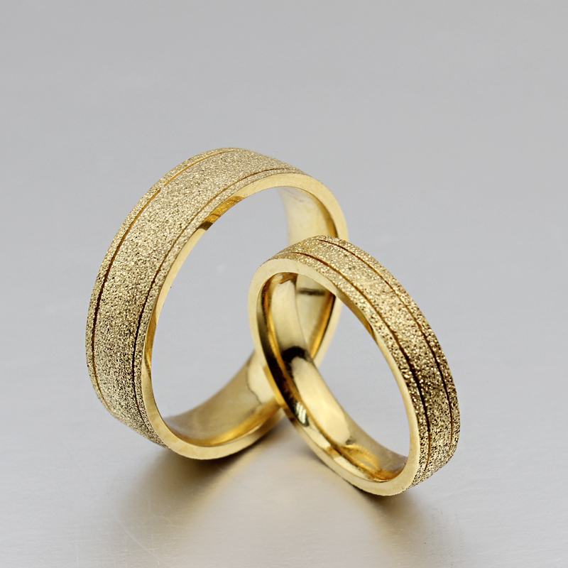 Couple Vintage gold ring for men and dull gold Polish women ...