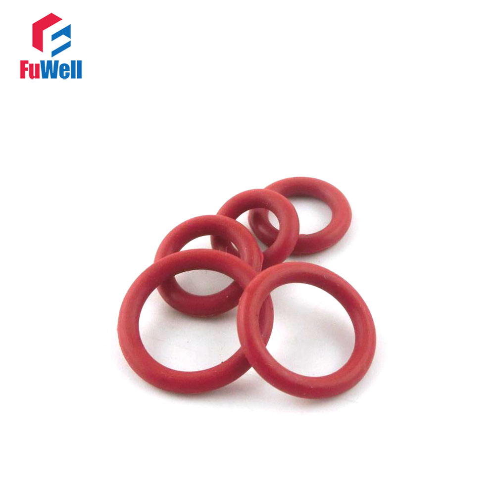 50pcs 3.5mm Thickness Red Silicon O Ring Seal Gasket 34/35/36/37/38/39/40/41/42/43/44mm OD Rubber O-ring Sealing Washer o ring for eheim 2213 and 2013 canister filters red