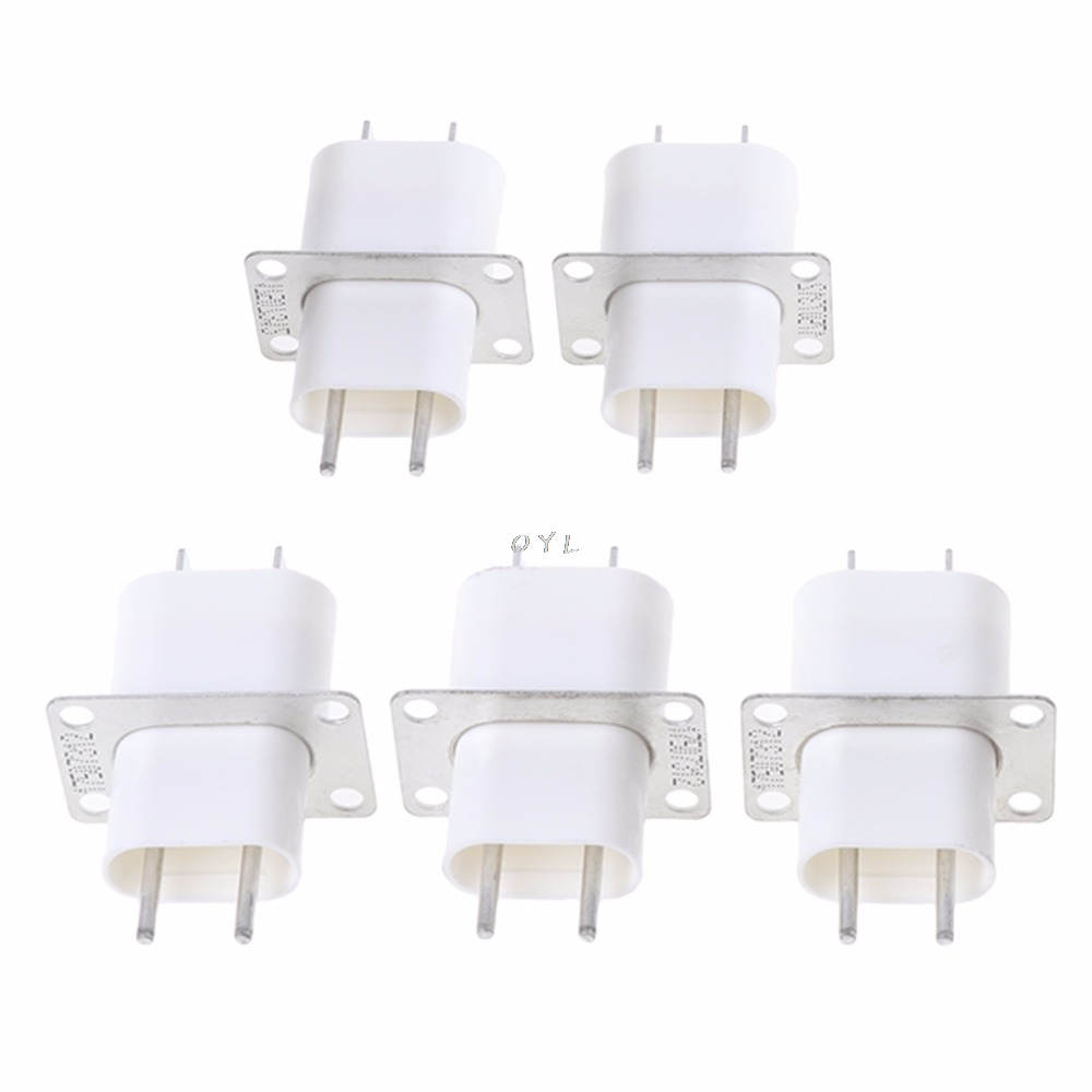 5Pcs Electronic Microwave Oven Magnetron 4 Filament Pin Sockets Converter Home