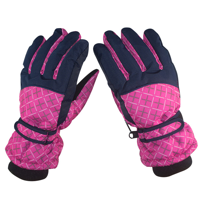 Women Winter Warm Wind Ski Gloves Sports Ground Waterproof Snowboard Skiing Cycling Gloves Ski Gloves