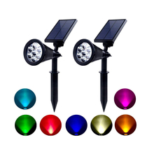 Solar Spotlight LED Landscape Lamps 7 Led Solar Garden Light RGB Colorful Landscape Light For Home Garden Yard Decoration недорого