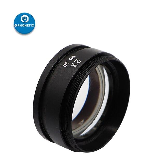 PHONEFIX SZM 0.5X 0.7X 2.0X objectifs auxiliaires lentille en verre lentille Barlow pour accessoires de pièces de Microscopes stéréo de la série SM