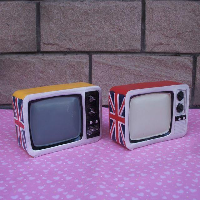 Money Box Piggy Bank Safe Cute Retro TV Shape Money Coin Bank Kids ...