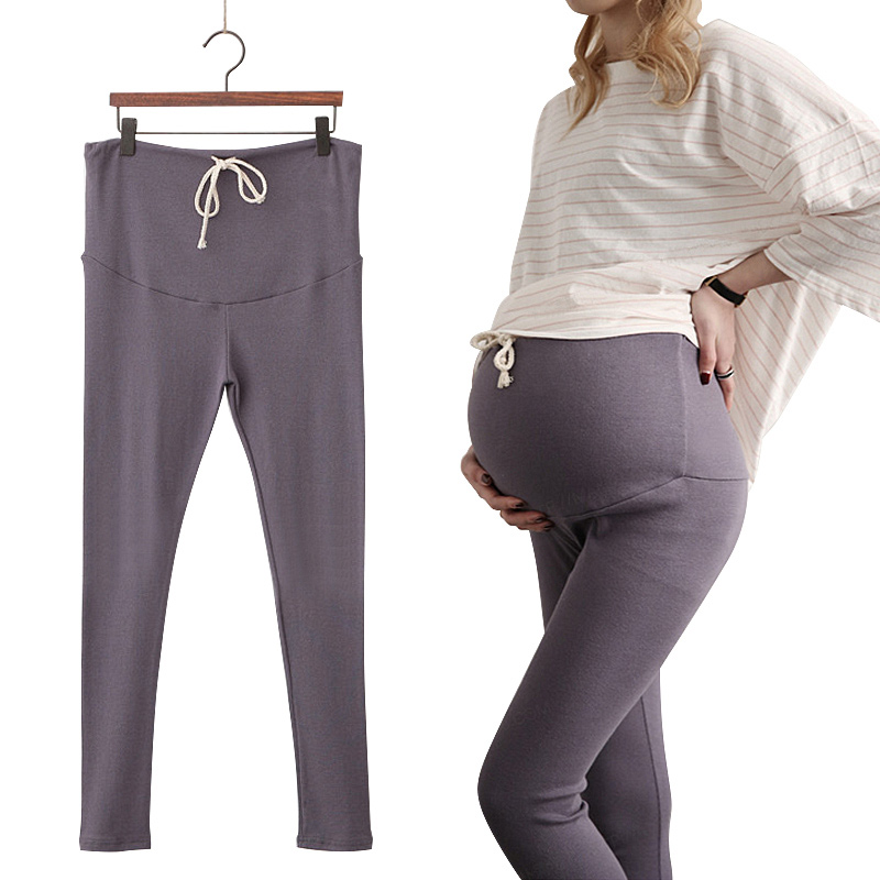 dce9e22dca53a Fashion Spring High Waist Maternity Leggings Skinny Stretch Sports Pants  for Pregnant Women Maternity Clothes 3 Colors