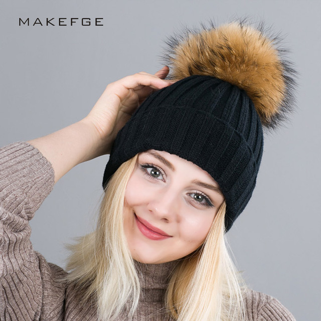 fb924de2740674 Winter Woman's Cap Winter Hat For Women Solid Knitted Women's Hat Cotton  Skullies Beanies Winter Cap