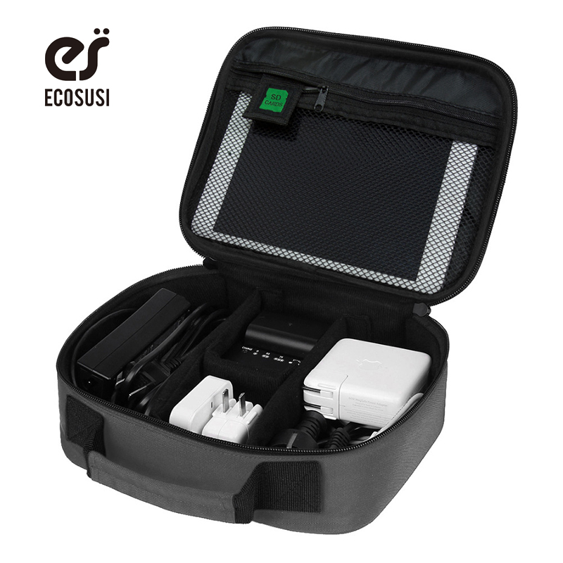 ECOSUSI Travel Accessories Jewelry Packing Bag For Earphone Digital font b Gadget b font Kindale Laptop