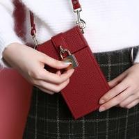 FLOVEME Fashion Bag For IPhone 7 Plus Wallet Case Girl Card Slot Messenger Bag Universal Phone