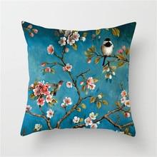 Fuwatacchi Flower Homer Decor Cushion Cover Flamingo Rainforest Leaves Wedding Decoration Pillow Case Pliiowcases