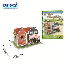 Cardboard 3D Puzzle Toy Dutch Style Flower Shop Model European Architecture Assembly  Kits Educational Toy For Christmas Gift 1pcs sunnysky x2216 2216 880kv 1100kv 1250kv 1400kv 1800kv 2400kv ii outrunner brushless motor for rc models 3d airplane