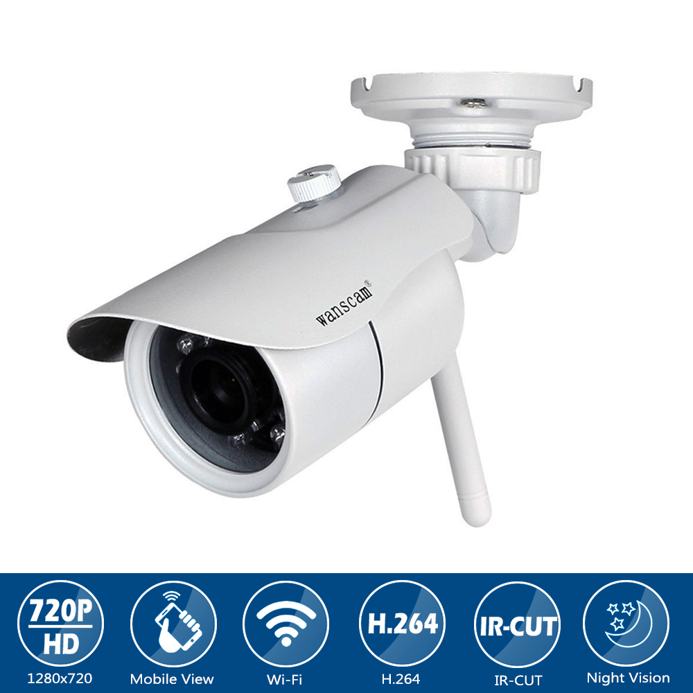 Wanscam Waterproof Wireless Security 1.0MP Bullet Camera Surveillance Network Cam (HD) 720P IP Camera with IR-CUT Night Vision цена и фото