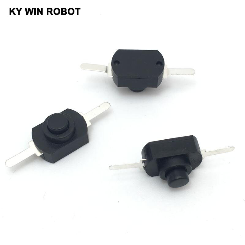 10PCS <font><b>12</b></font>*8MM <font><b>DC</b></font> <font><b>30V</b></font> 1A Black On Off Mini Push Button Switch for Electric Torch 1208YD Flashlight Switches image