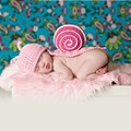 Newborn Baby Photography Props Costume Cartoon Snail Crochet Knitted Hat Infant Hat+Cloak  Baby Photo Shooting Accessories