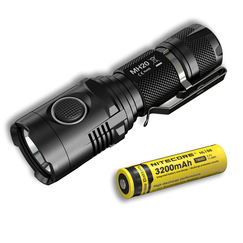NITECORE MH20 With 3200mAh battery 1000 lumens CREE XM-L2 U2 LED Rechargeable MINI Flashlight Waterproof Led Torch+Free shipping nitecore mh20 with 3200mah battery 1000 lumens cree xm l2 u2 led rechargeable mini flashlight waterproof led torch free shipping