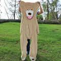 200cm Selling Toy Big Size American Giant Bear Skin Teddy Bear Coat Good Quality Factary Price Soft Toys For Girls