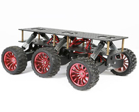 6WD Search Rescue Platform Smart Car Chassis Damping Off Road Climbing Arduino Raspberry Pie Can Extend