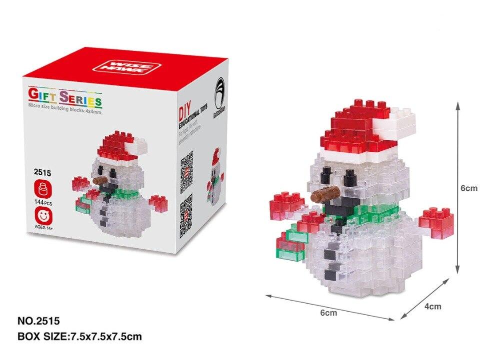 2242ef37f055 Mini Christmas Block Nano Santa Claus Snowman Bear Sock Cartoon Micro  Building Brick legoing Toys Retail Gift