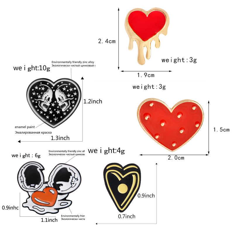 القلب! القلب! BiuBiu اطلاق النار القلب جميلة لطيف دافئ وردي أحمر أسود أبيض هالوين تظهر قلبك الحب المينا دبابيس دبابيس