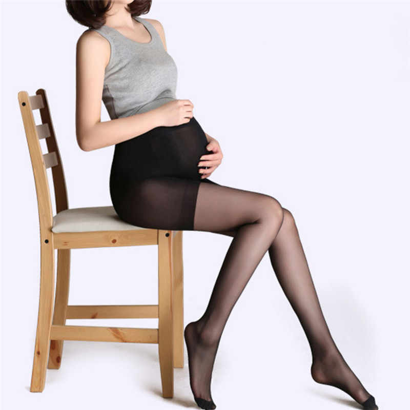 Pregnancy Pantyhose Solid Piece Socks Siamese Tights For Pregnant Women Silk Stockings High Quality