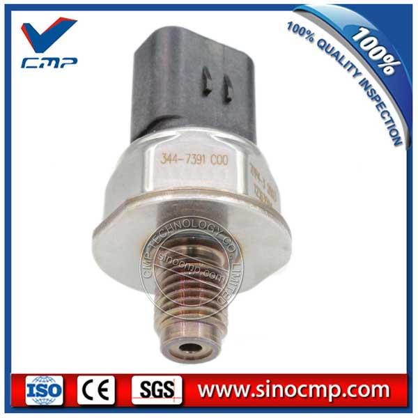 344-7391 Pressure Sensor,  Excavator Oil Diesel Common Rail Sensor