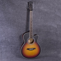 Hot Guitars 40 Inch High Quality Acoustic Guitar Rosewood Fingerboard Guitarra Musical Stringed Instruments 6 Strings