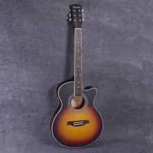 Guitarras calientes 40 Pulgadas Guitarra Acústica de Alta Calidad Instrumentos Musicales De Cuerda Guitarra Diapasón de Palisandro 6 Cuerdas Guitarras