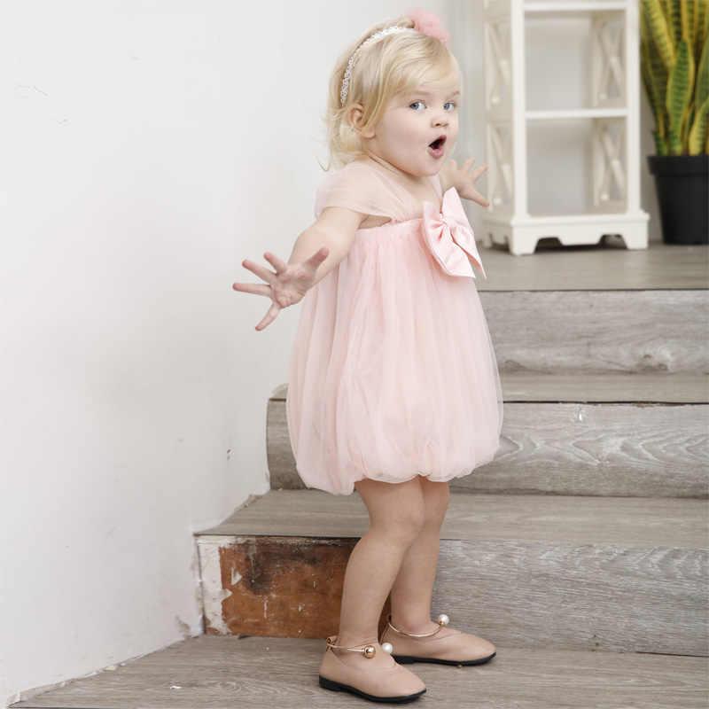 00311722bfbea ... korean baby girl dress sleeveless bowknot sexy transparent shoulder 2 year  old baby girl birthday dress ...