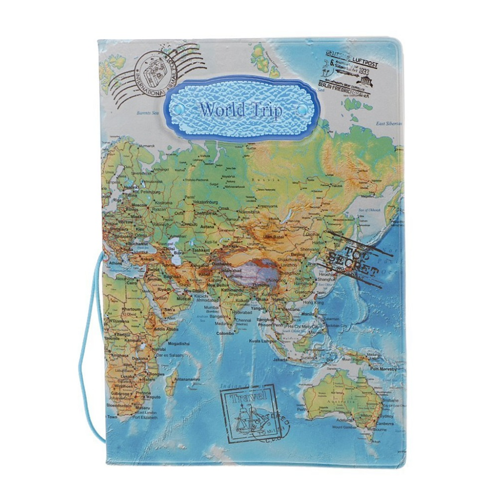 High Quality Maps Pattern Unisex Travel Passport Cover Travel Accessories ID Bank Credit Card Bag Men Women Passport Holder Case