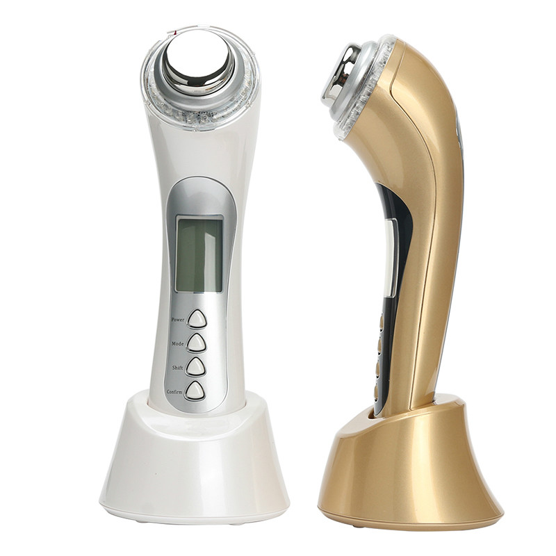 5 in 1 Skin Renewal System Skin Beauty Care Tool Ultrasonic High Frequency Ion Led Photon Personal Handheld Facial Massager5 in 1 Skin Renewal System Skin Beauty Care Tool Ultrasonic High Frequency Ion Led Photon Personal Handheld Facial Massager