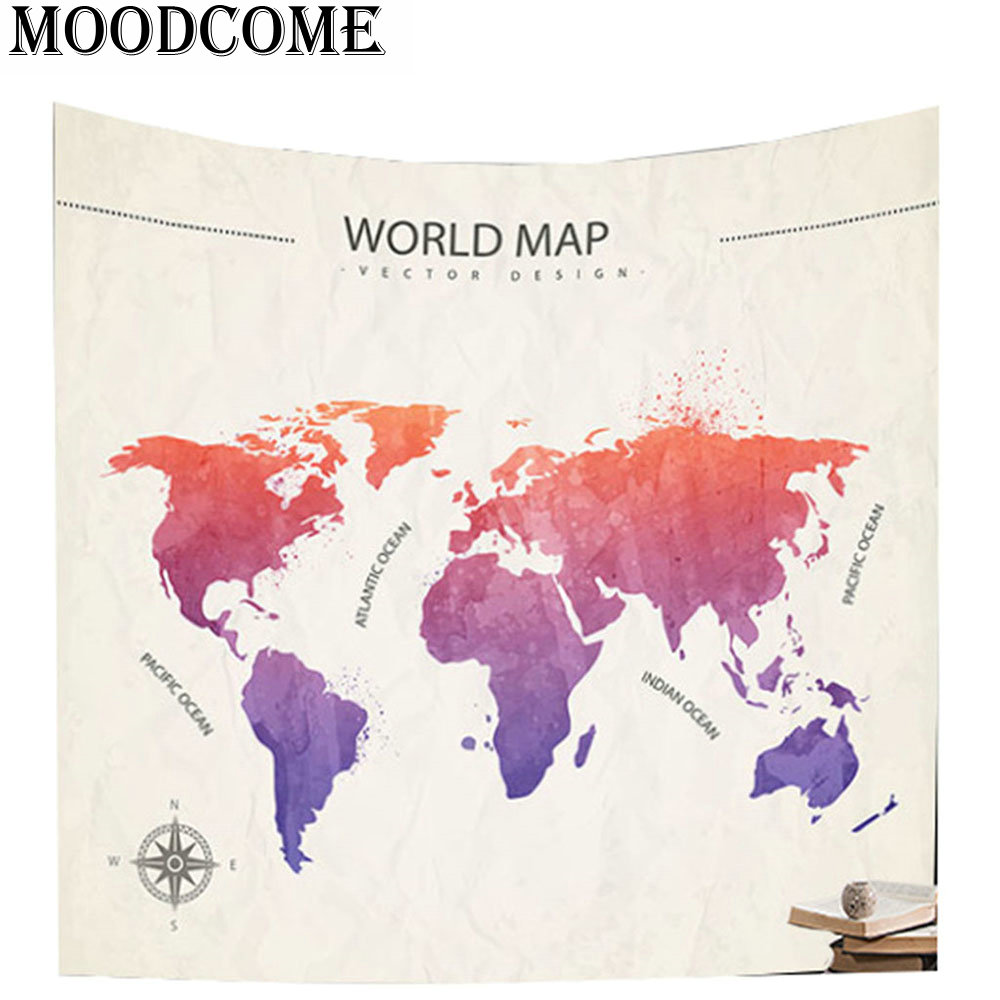 World map tapestry wall blanket new arrival gift polyester boho world map tapestry wall blanket new arrival gift polyester boho decor fabric mandala indian wall tapestry in tapestry from home garden on aliexpress gumiabroncs Gallery
