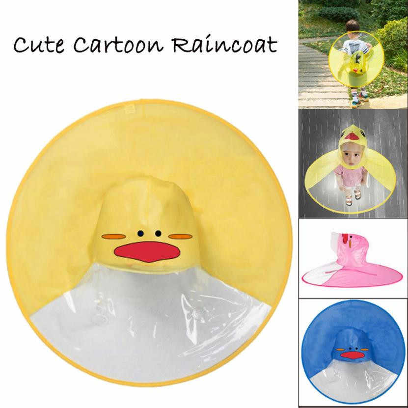 UFO Raincoat Children s Cloak Rain Cover Umbrella Poncho Hands Free  Rainwear Waterproof Funny Yellow Duck Children s 0ce3c885a96d