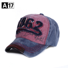 A17  Cotton Embroidery Letter 1962 Baseball Cap Snapback Caps Bone  Casquette Hat Distressed Wearing Fitted Hat For Men Hats 03ca70ced3fb