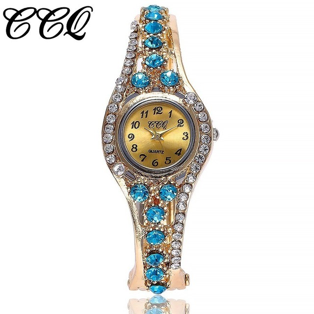 CCQ Brand Women Bracelet Watch Female Dress Wristwatch Women Bangle Clock Wrist