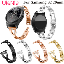 Fashion 20mm Bracelet for Samsung Gear S2 Women Band with Rhinestone Strap For Classic 42mm watch Accessories