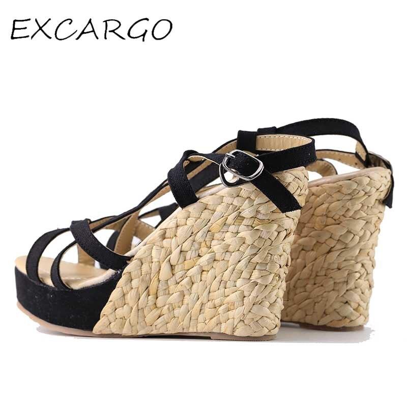 Bohemian Roman Slope Plus Size 30-43 Sexy High անջրանցիկ - Կանացի կոշիկներ - Լուսանկար 3