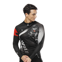 Long sleeve cycling jerseys 5D Padded MTB Bicycle Tight Bicicleta Mountain Bike Autumn Fleece clothes Maillot Hombre Team jersey 2