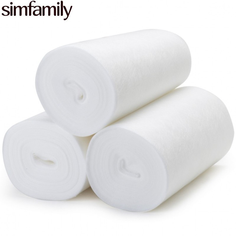 [simfamily]1 Roll Bamboo Flushable Liner,100 Sheets/Roll Biodegradable Disposable Baby Nappy Changings For 3-36 Months, 3-15 Kg