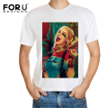 FORUDESIGNS Newest Men Printing Short T Shirt 3D Sexy Harley Quinn Male Summer Casual T-shirt Spandex Breathable Top Tee for Man