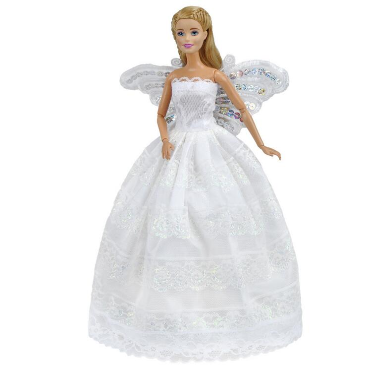 Butterfly Embroidery Doll Dresses For Barbie Doll Evening