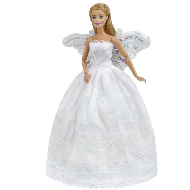 Butterfly embroidery Doll Dresses For Barbie Doll Evening Gown ...