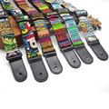Cotton Cartoon Children Small Guitar Ukulele Strap Adjustable Belt With PU leather Ends For Hawaii  Mucial Instrument
