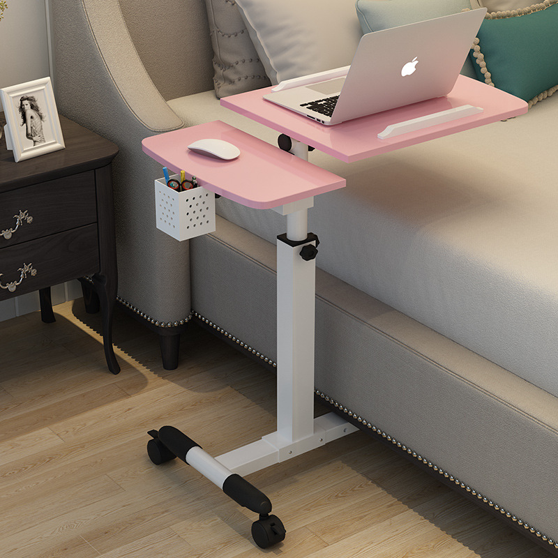 Bed With Multi-function Lazy Small Bed Side Table Folding Notebook Lift Rotating Removable Computer Table Dining Table WF6011100