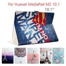 """MediaPad M2 A03L Funda Caja de la Tableta Cubierta Del Soporte de Cuero Para Huawei MediaPad 10.1 """"Flip Inteligente M2 10.0-A01W Stand funda protectora de Shell"""