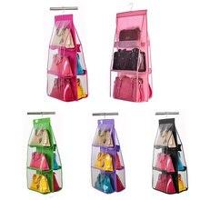 Висячие для хранения Кошелек, дамская сумочка Сумка-тоут органайзер для хранения обуви вешалка для хранения аксессуары для хранения вешалка для шкафа вешалки 6 карманов