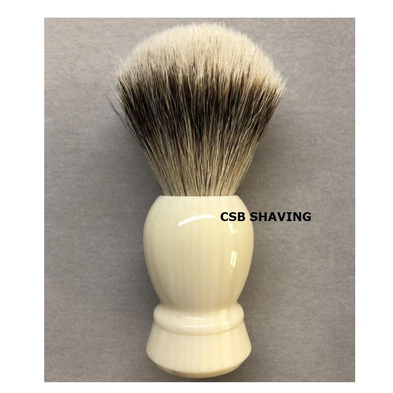 CSB Faux Ivory High Quality Silvertip Badger Hair Knot 20mm Shaving Brush Mustache Beard Shave Wet Tool Badger Shop Salon